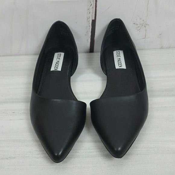 288b6af11eb Steve Madden Leather D'Orsay Flats 5.5M